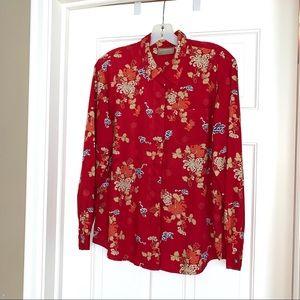 LIKE NEW! Liz Claiborne floral blouse